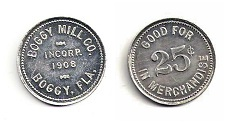 Boggy Mill Company 1908 Token