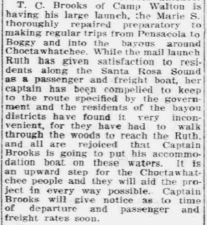 Captain Brooks and Marie S. Article