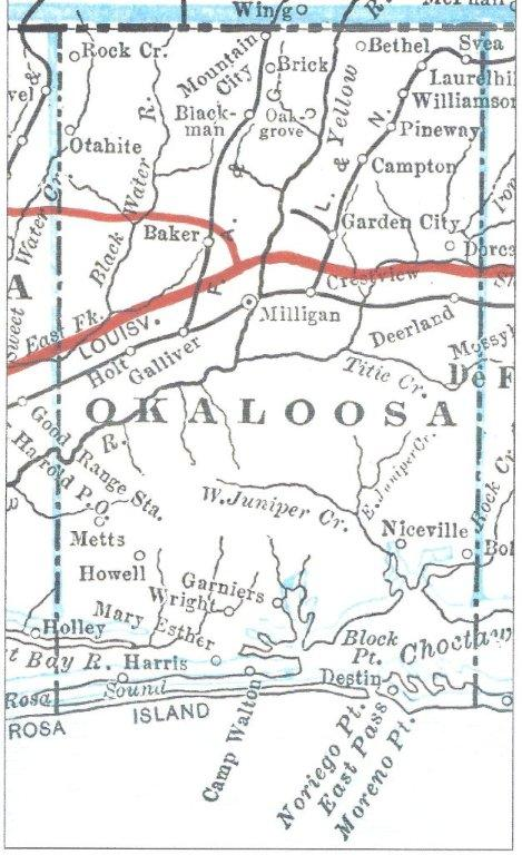 1917 Map Niceville